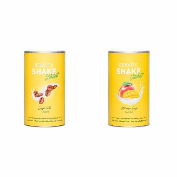 BEAVITA Vtalkost Plus, Caffè Latte + Mango Lassi