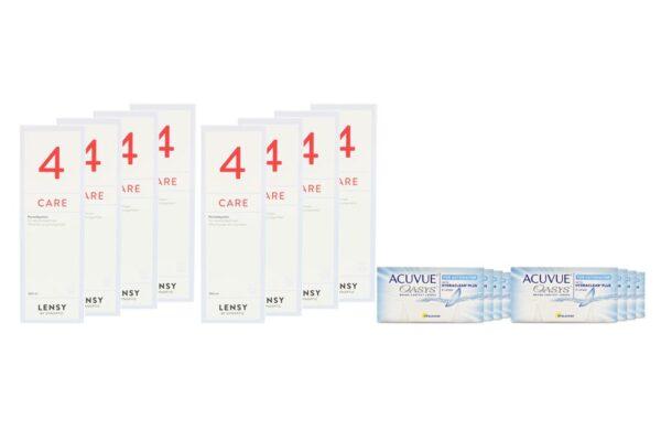 Acuvue Oasys for Astigmatism 8 x 6 Zwei-Wochenlinsen + Lensy Care 4 Jahres-Sparpaket