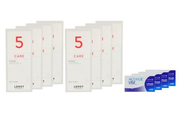 Acuvue Vita 4 x 6 Monatslinsen + Lensy Care 5 Jahres-Sparpaket