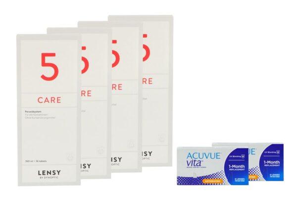Acuvue Vita for Astigmatism 2 x 6 Monatslinsen + Lensy Care 5 Halbjahres-Sparpaket