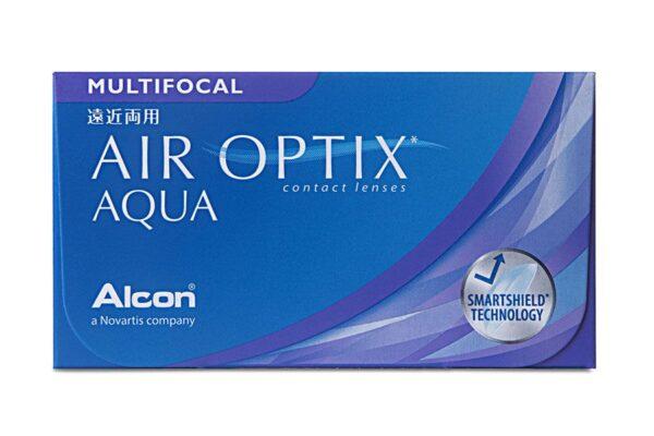Air Optix Aqua Multifocal 4 x 6 Monatslinsen + Aosept Plus HydraGlyde Jahres-Sparpaket