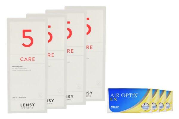 Air Optix EX 4 x 3 Monatslinsen + Lensy Care 5 Halbjahres-Sparpaket