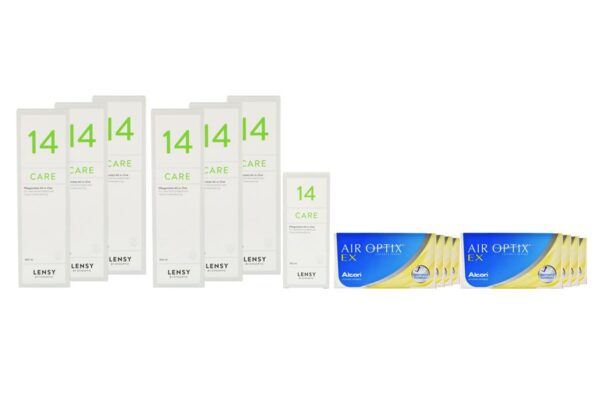 Air Optix EX 8 x 3 Monatslinsen + Lensy Care 14 Jahres-Sparpaket