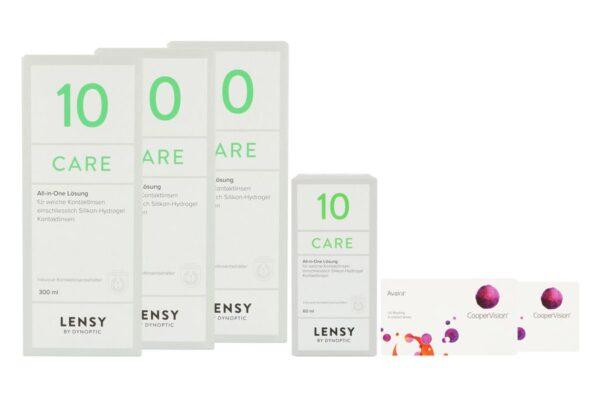 Avaira Vitality 2 x 6 Monatslinsen + Lensy Care 10 Halbjahres-Sparpaket