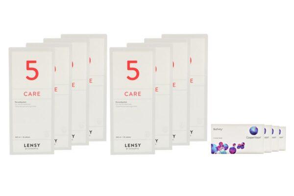 Biofinity 4 x 6 Monatslinsen + Lensy Care 5 Jahres-Sparpaket