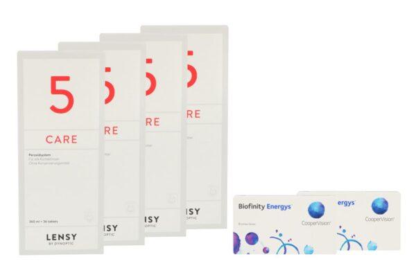 Biofinity Energys 2 x 6 Monatslinsen + Lensy Care 5 Halbjahres-Sparpaket