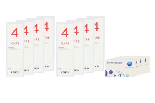 Biofinity Energys 4 x 6 Monatslinsen + Lensy Care 4 Jahres-Sparpaket