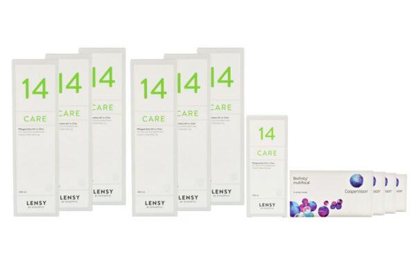 Biofinity multifocal 4 x 6 Monatslinsen + Lensy Care 14 Jahres-Sparpaket