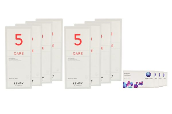 Biofinity multifocal 4 x 6 Monatslinsen + Lensy Care 5 Jahres-Sparpaket