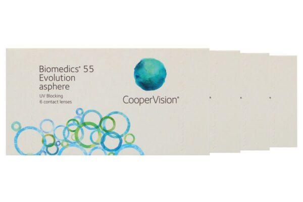Biomedics 55 4 x 6 Monatslinsen