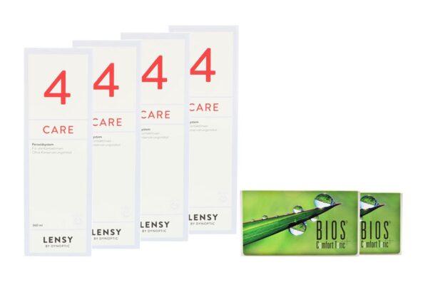 Bios Comfort Toric 2 x 6 Monatslinsen + Lensy Care 4 Halbjahres-Sparpaket
