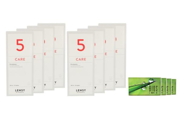 Bios Comfort Toric 4 x 6 Monatslinsen + Lensy Care 5 Jahres-Sparpaket