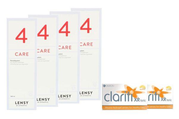 Clariti XR toric 2 x 6 Monatslinsen + Lensy Care 4 Halbjahres-Sparpaket