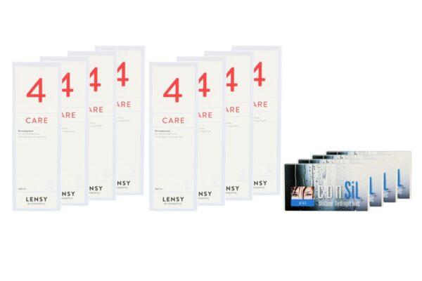ConSiL Plus 4 x 6 Monatslinsen + Lensy Care 4 Jahres-Sparpaket