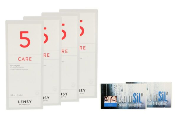 ConSiL Plus Toric 2 x 6 Monatslinsen + Lensy Care 5 Halbjahres-Sparpaket
