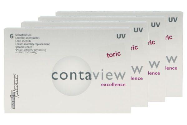Contaview excellence toric UV 4 x 6 Monatslinsen