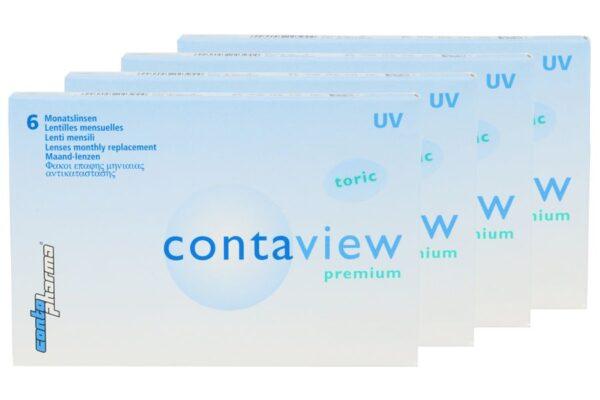 Contaview premium toric UV 4 x 6 Monatslinsen
