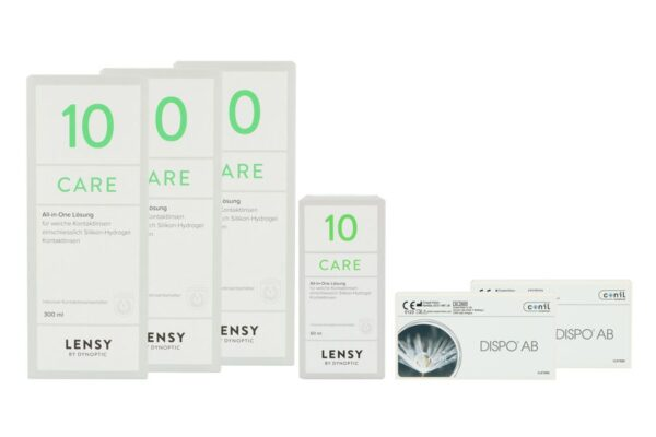 Dispo AB 2 x 6 Monatslinsen + Lensy Care 10 Halbjahres-Sparpaket