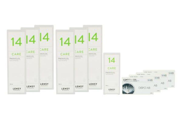 Dispo AB 4 x 6 Monatslinsen + Lensy Care 14 Jahres-Sparpaket