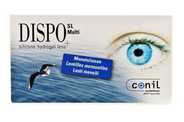 Dispo SL Multi 4 x 6 Monatslinsen + Opti Free Pure Moist Jahres-Sparpaket