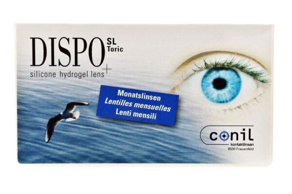 Dispo SL Toric 2 x 6 Monatslinsen + Opti Free Pure Moist Halbjahres-Sparpaket
