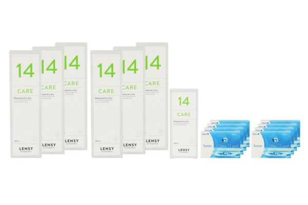 Fusion 7 Days 8 x 12 Wochenlinsen + Lensy Care 14 Jahres-Sparpaket