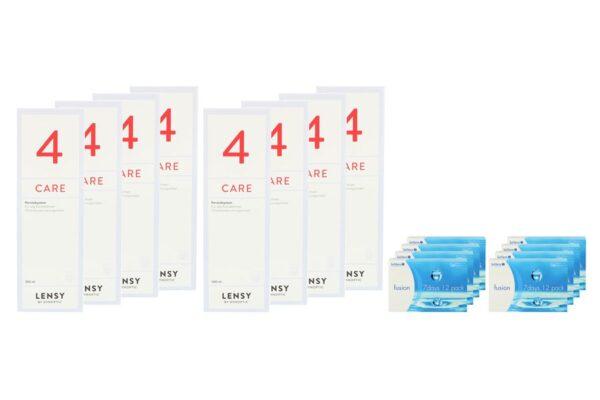 Fusion 7 Days 8 x 12 Wochenlinsen + Lensy Care 4 Jahres-Sparpaket