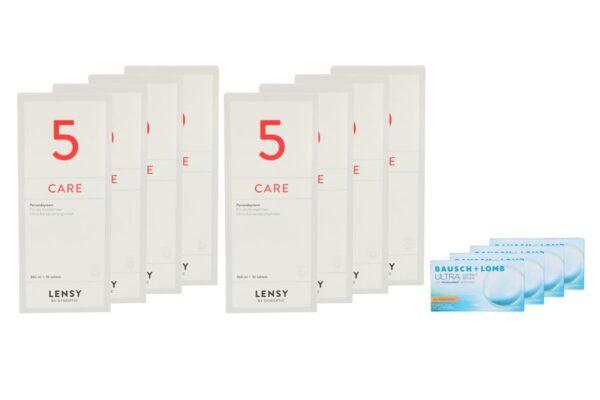 Ultra for Astigmatism 4 x 6 Monatslinsen + Lensy Care 5 Jahres-Sparpaket