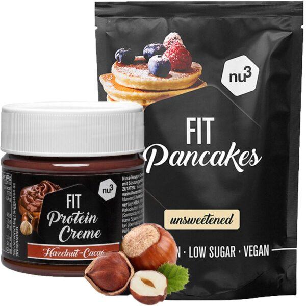 nu3 Fit Pancakes, ungesüßt + nu3 Fit Protein Creme